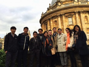 Group photo at Radcliffe Camera